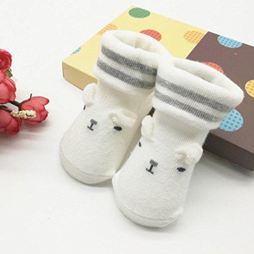 Weiche Baby Socken (ESHOO 0-6 M Kleinkind-Säuglingskind-Jungen-Mädchen-weiche rutschfeste alleinige Socken Neugeborene Baby-Socken)