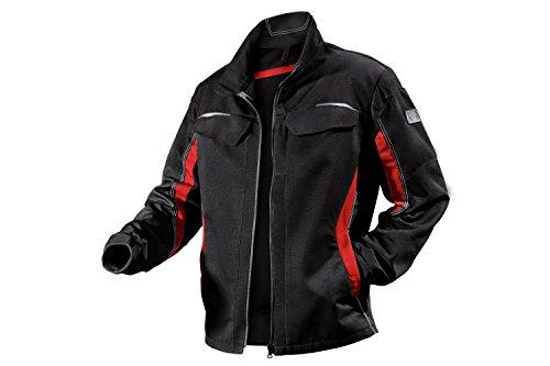 KÜBLER Arbeitsjacke zweifarbig Stretch 1324, Größe:60, Farbe:schwarz/rot -