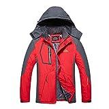 HUIHUI 2019 Winterjacke Herren XXXL Geographical Norway Mantel Business Jacket Waterproof (rot,XXXXL)