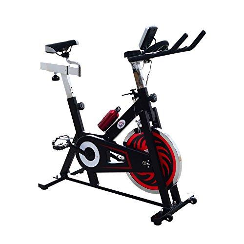 Homcom – Cyclette per Spinning Professionale Training Cardio Bike 105 × 45 × 95cm Nero
