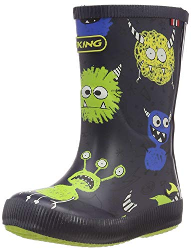Classic Indie Monsters Gummistiefel, Blau (Navy/Lime 588), 28 EU ()