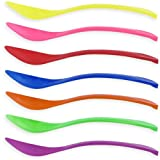 Colored Curved Plastic Spoons - 1,000 / Case (Red)
