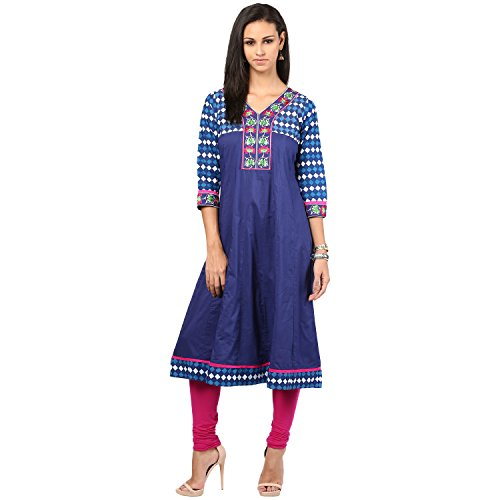 Prakhya Women's Straight Kurta (SW839PINK_Small)