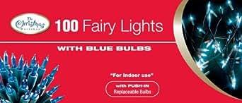 The Benross Christmas Workshop 100 Shadeless Fairy Lights, Blue
