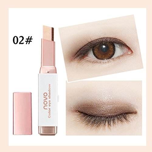 WYXlink Neue Gradient Two-Color Eye Shadow Stick Schimmer Palette Eye Cream Pen (B) (Lip Color Palette)