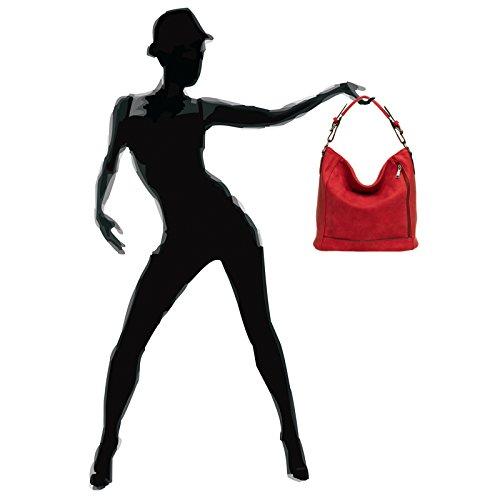 CASPAR Fashion , Borsa Messenger  Donna Rosso (Rosso)