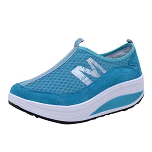 Fascino-M』 Damen Sportschuhe Laufschuhe Gym Turnschuhe Freizeitschuhe Atmungsaktiv Running Sneaker Low Top Schnürschuhea Mesh Outdoor Shoes