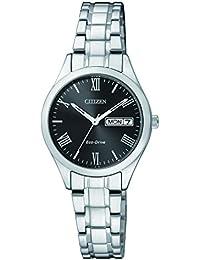 Citizen Damen-Armbanduhr Analog Quarz Edelstahl EW3196-81EE