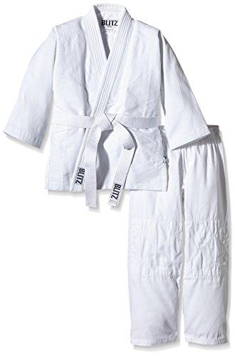 Blitz Sport Polycotton Lightweight 10 Unzen Judo Anzug Weiß weiß 2 - 150 cm/10 oz