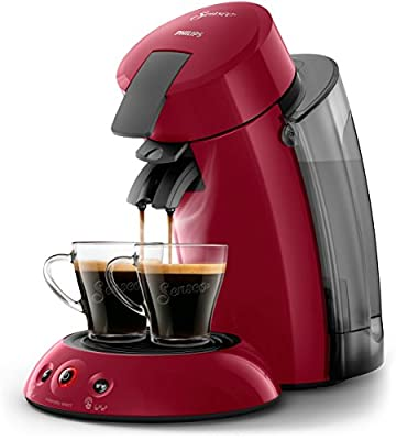 Senseo HD6555/81 - Coffee Machine (Independent, Capsule Machine, 1.2 L, Coffee Dose, 1450 W, Red)