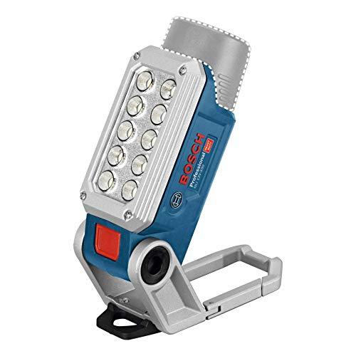 Bosch Professional 12V System Akku LED Lampe GLI 12V-330 (330 Lumen, Betriebszeit: 180 min/Ah, ohne Akkus und Ladegerät, im Karton)