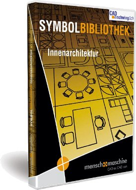 Preisvergleich Produktbild MuM Symbolbibliothek Innenarchitektur - AutoCAD & LT 2013