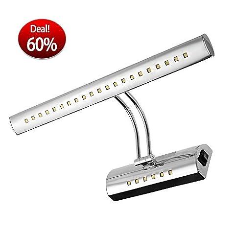 CroLED® 6W 27 LED 5050 SMD - Spiegelleuchte Schranklampe Badlampe Badleuchte Wandleuchte Wandlampe Spiegellampe Leuche Beleuchtung - mit Schalter - AC100-240V