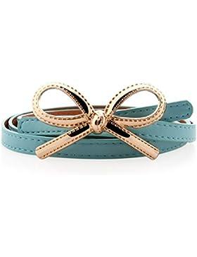 Dulce Arco Metálica Limpia Cinturón/Cinturones Delgados De Color Caramelo
