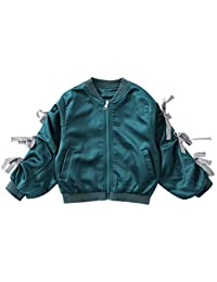 XING GUANG Kinder Herbst und Winter New Wave Kinderkleidung Jacke Big Boy Kurze  Mädchen Mädchen Ribbon Baseball Uniform… 5aa3c45f97