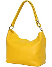 dcda2e559f207 AMBRA Moda Damen Leder Handtasche Schultertasche Umhängetasche Hobo bag  GL005