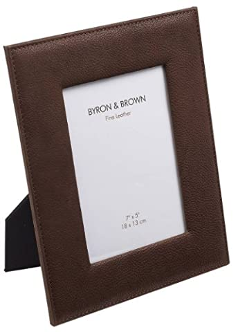 Chocolate Vintage Leather Photo Frame 7 x 5 by Byron
