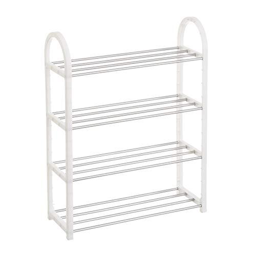 Mueble Zapatero de 4 baldas de plástico Blanco Moderno para Dormitorio Basic - LOLAhome