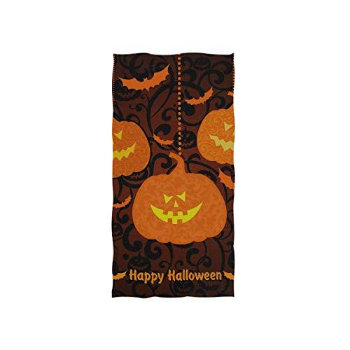 Happy Halloween Gelb Kürbis Soft Spa Strand Badetuch Fingerspitze Handtuch Waschlappen Für Baby Erwachsene Badezimmer Strand Dusche Wrap Hotel Reise Gym Sport 30x15 Zoll