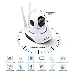 House Of Gifts Wireless HD IP Wifi CCTV Indoor Security Camera Stream Live Video in Mobile or Laptop - White