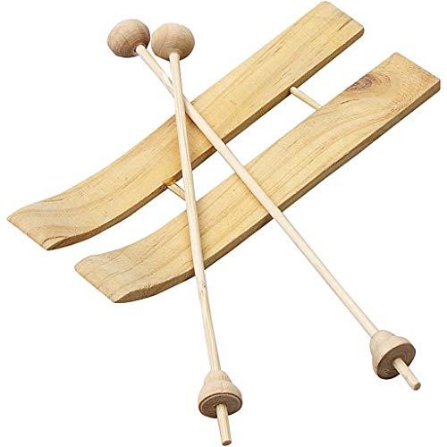 hi zum basteln Ski 11x4 Holz selbstgestalten DIY Deko Mini 3STK ()