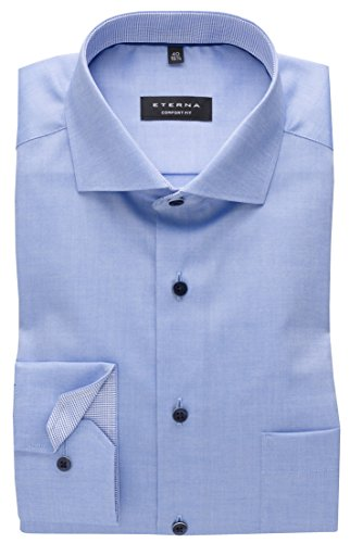 eterna -  Camicia classiche  - Basic - Classico  - Maniche lunghe  - Uomo Blau