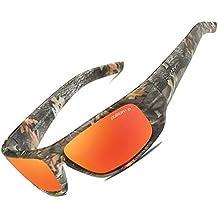 hlq Camuflaje Montar Gafas de Sol Deportivas, Gafas de Sol polarizadas de Pesca, Gafas
