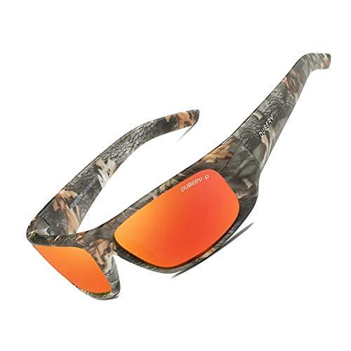 hlq Camuflaje Montar Gafas de Sol Deportivas, Gafas de Sol polarizadas de Pesca, Gafas polarizadas de película de Color, Personalidad, Moda,C