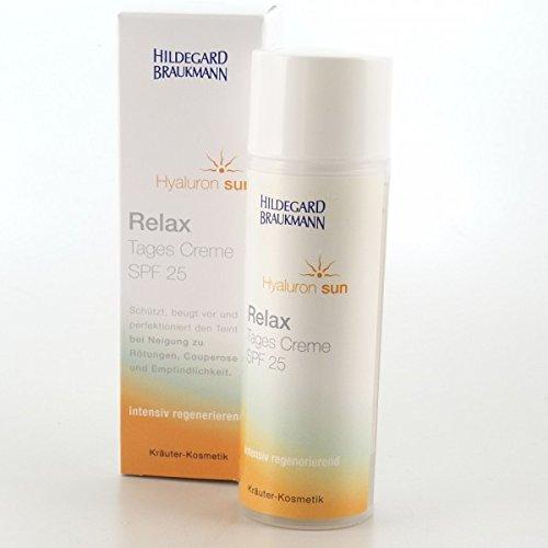 Hildegard Braukmann Hyaluron Sun Relax Tages Creme Lichtschutzfaktor 25, 1er Pack (1 x 50 ml)