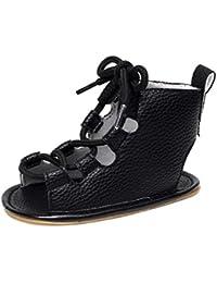 afa6c6d8b7a67 Malloom 0-2 Años bebé Ocasional Sandalias Vendaje Cross-Atado único Cuna  Hueco Zapatos