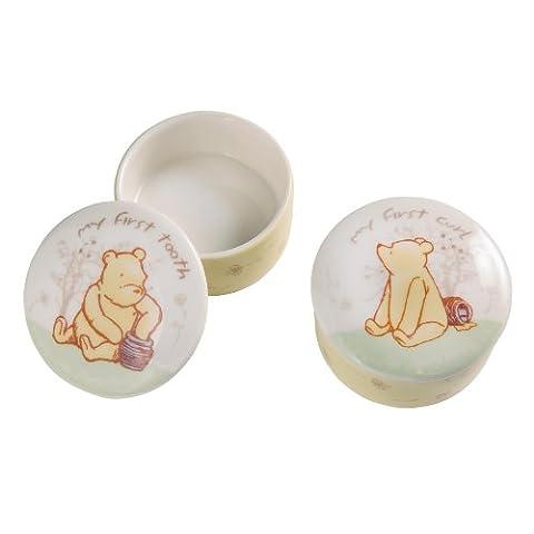 Classic Pooh Lot de 2 boîtes Winnie l'Ourson First Tooth et Curl
