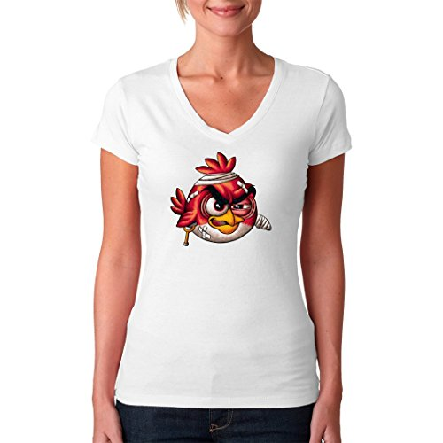 Fun Girlie V-Neck Shirt - Angry Red by Im-Shirt Weiß