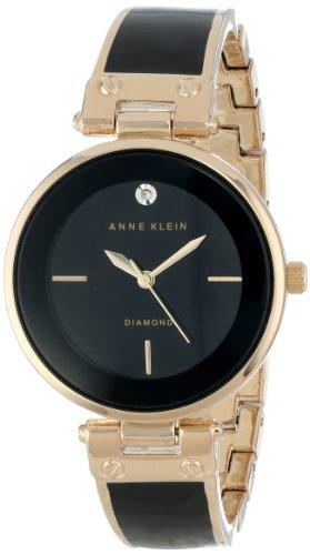 Anne Klein AK/1414BKGB - Orologio da polso da donna, cinturino in acciaio inox colore oro