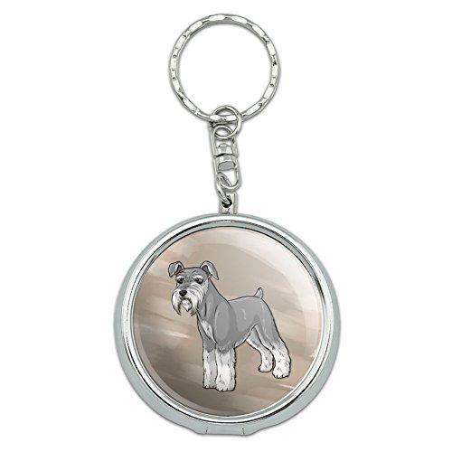Portable Travel Größe Pocket Geldbörse Aschenbecher Schlüsselanhänger Hund Puppy Miniature Schnauzer Pet Dog (Dog Schnauzer Miniature)