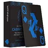 Mindrax Wasserfeste Premium Spiel-Karten | 100% Plastik & Jumbo Index | Profi Poker-Karten | Party-Spiele Mitbringsel