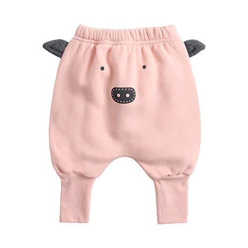 Sanlutoz Coton Bébé Harem Pantalons Animal Mignonne Bébé Hiver des Pantalons Chaleureuse Pantalons pour Filles (2-3 ans/100cm, BPW8163-PIG)