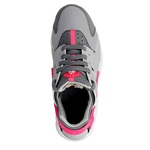 Nike Huarache Run (Gs), Chaussures de Running Entrainement Femme Gris