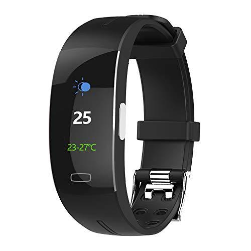 GLDMT Intelligentes Armband, Fitness-Tracker, Fitness Armband Mit Pulsmesser, Aktivitäts-Tracker Wasserdichte Farbanzeige Smart Armband, Kinder-, Damen- Und Herren-Multifunktionsuhren,E