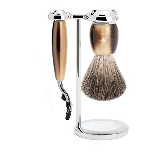 뮐레 클래식 면도기 세트 MÜHLE Shaving Brush & Gillette® Mach3® Set Serie Vivo