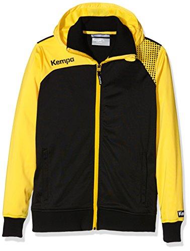 FanSport24 Kempa Emotion Kapuzenjacke, Damen, schwarz/gelb Größe L