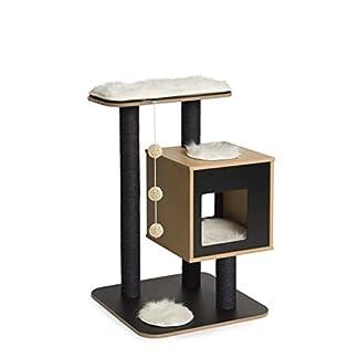 Vesper V-High Base Cat Furniture Tree, Walnut 15