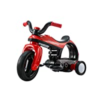 Ying Hao Electric Tricycle for Kids Aged 2 - 5 Years old 6v - Ride on Motorbike with LED Lights, Futuristic Design, Music and Horn sounds