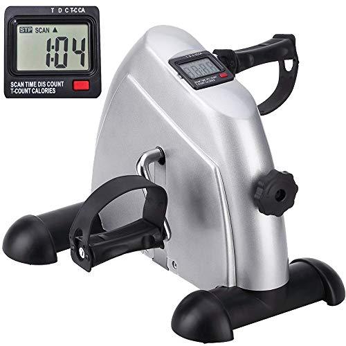 himaly Beintrainer Arm Minibike Heimtrainer Pedaltrainer Trainingsgerät Fitnessgerät mit LCD-Monitor Fitness Einstellbarer Widerstand Fahrradtrainer Zuhause Büro