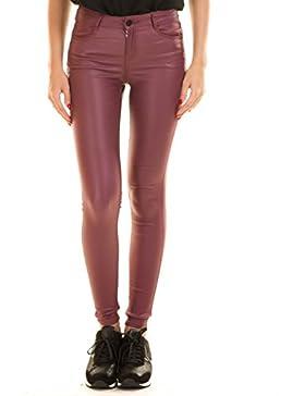 Pantalon elastico encerado rosa VICOMMIT de Vila Clothes