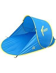 Best Camp Fairy Abri de plage Bleu Clair/Jaune 200 x 120 x 90 cm