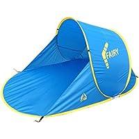 Best Camp Pop Up Fairy Tenda a Conchiglia da Spiaggia, Blu, 200 x 120 x 90 cm