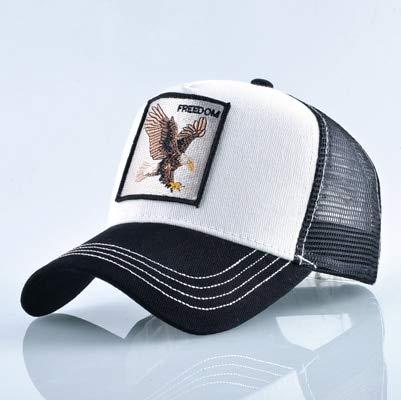 QYYDBQM Tiere Stickerei Baseball Caps Männer Hut Frauen Mesh Unisex Streetwear Cap 56-60cm White Eagle White-mesh-hut