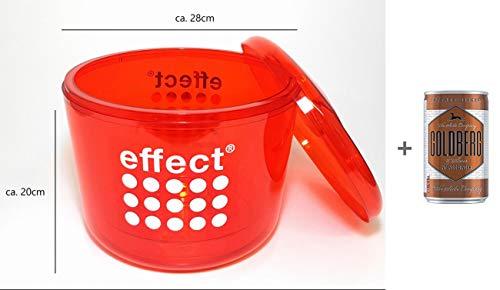 Effect Energy Drink Flaschenkühler Eisbox Eiskübel - Rot