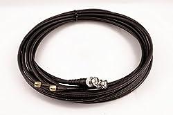 Bidatong Twin Koaxkabel für LTE/WiFi - Belden H155-LSNH - BNC Stecker -> SMA Stecker - Halogenfrei - Flammwidrig (5 Meter)