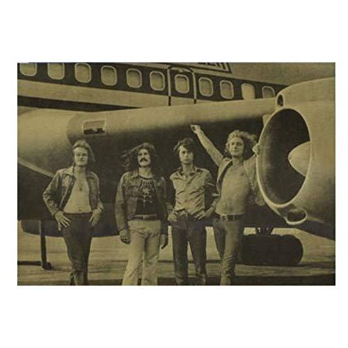 Preisvergleich Produktbild Vintage Kraft Poster Rock Band Stil Led Zeppelin A Zeichnung Gemälde Schöne 5 Muster 50X35 Cm Bar Wanddekor